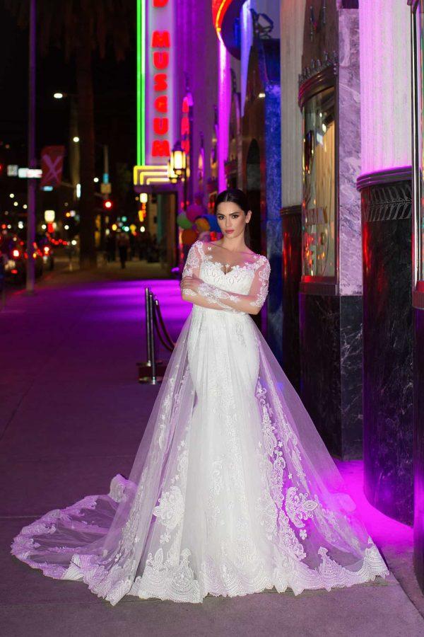 Pollardi 31112 | Prinzessinnen Brautkleid Meerjungfrau | Hochzeitskleid A-Linie | Brautmode Köln Anna Moda