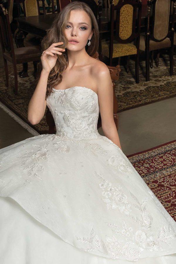 Cosmobella 7928 | Prinzessinnen Brautkleid | Hochzeitskleid A-Linie | Brautmode Köln