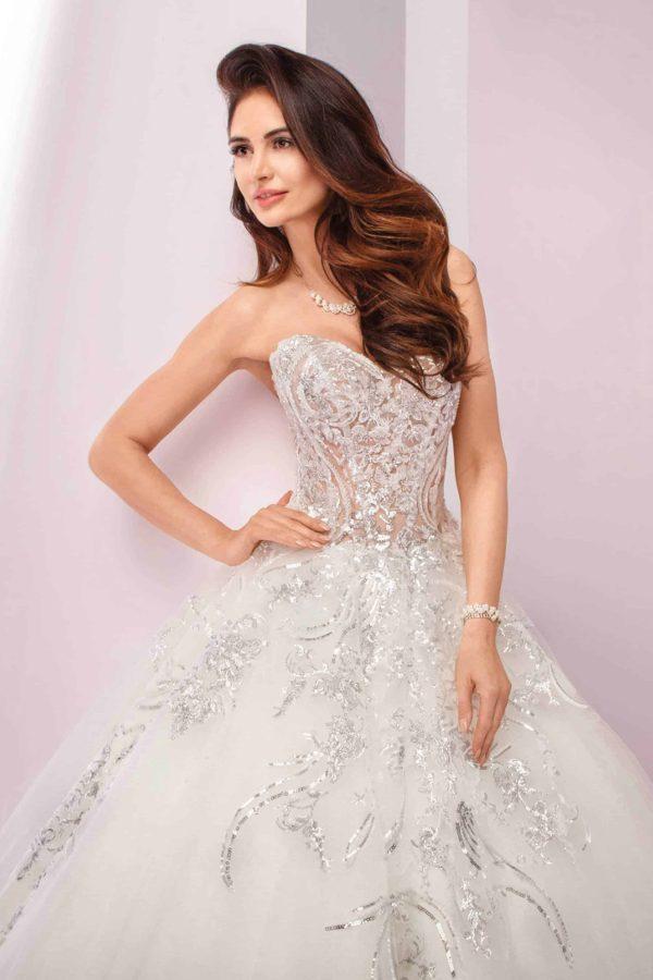 Agora 19-04 | Prinzessinnen Brautkleid | Hochzeitskleid A-Linie | Brautmode Köln Anna Moda