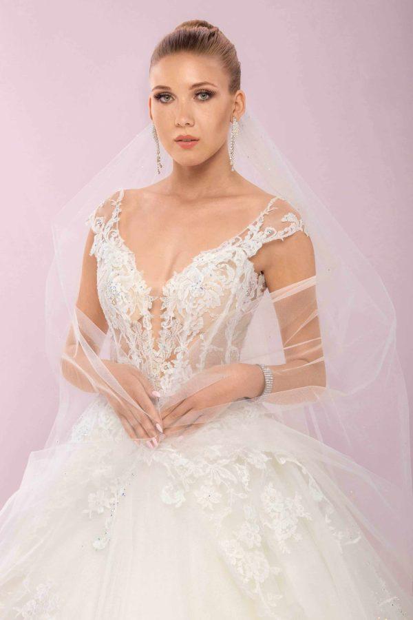 Agora 19-41 | Prinzessinnen Brautkleid | Hochzeitskleid A-Linie | Brautmode Köln Anna Moda