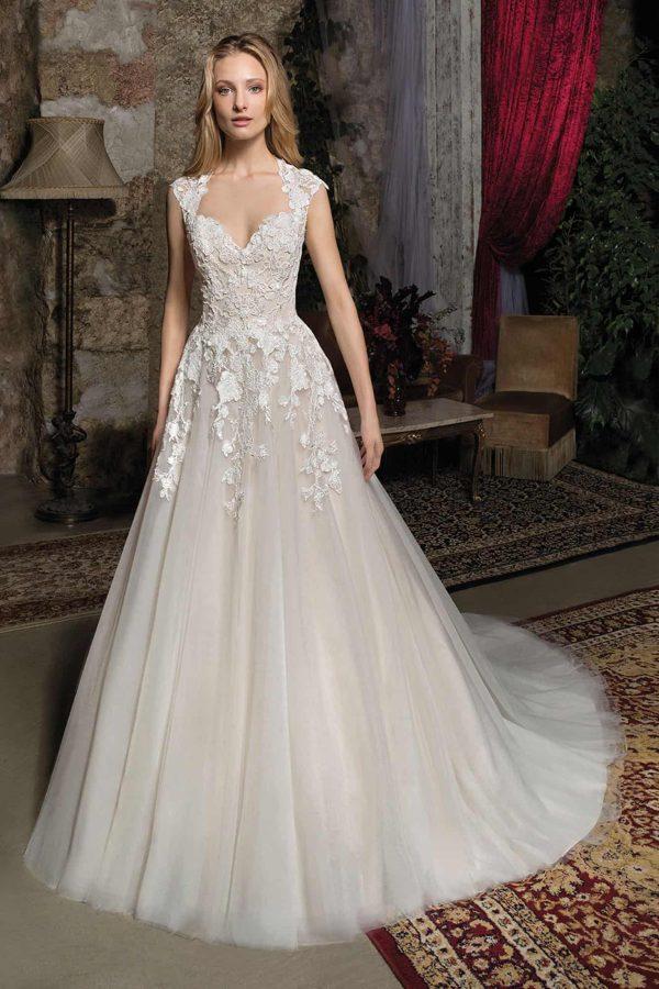 Cosmobella 7930 | Vintage Brautkleid | Hochzeitskleid A-Linie | Brautmode Köln Anna Moda