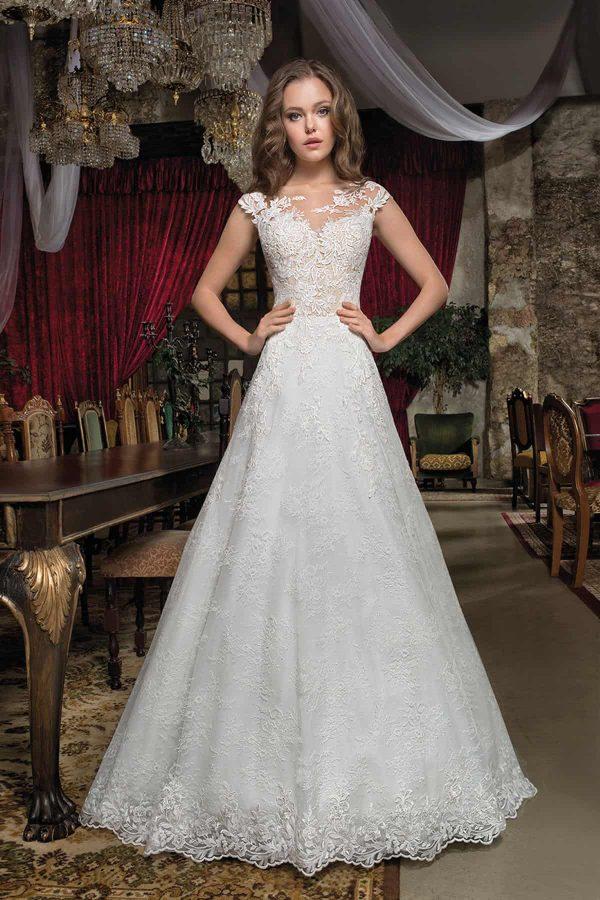 Cosmobella 7931   Vintage Brautkleid   Hochzeitskleid A-Linie   Brautmode Köln Anna Moda