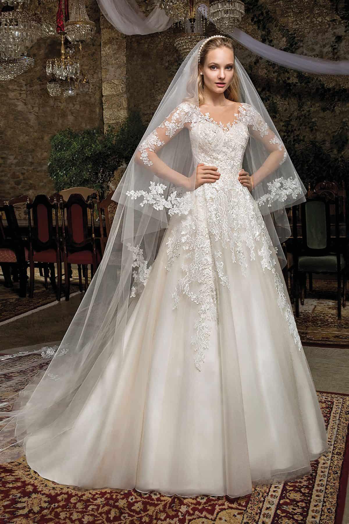 Cosmobella 7932 | Prinzessinnen Brautkleid | Hochzeitskleid A-Linie | Brautmode Köln Anna Moda