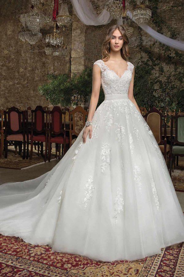 Cosmobella 7940   Prinzessinnen Brautkleid   Hochzeitskleid A-Linie   Brautmode Köln Anna Moda
