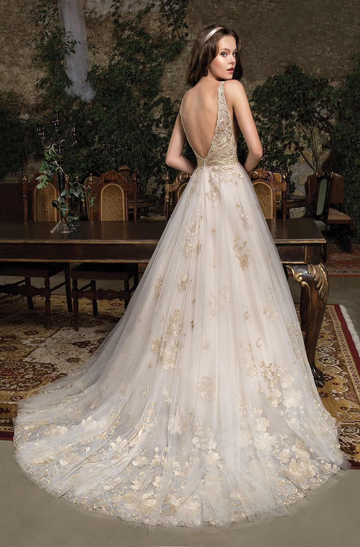 Cosmobella 7944 | Brautkleid Romantik | Hochzeitskleid A-Linie | Brautmode Köln Anna Moda