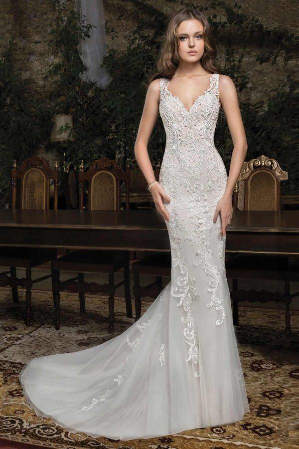 Cosmobella 7954 | Vintage Brautkleid | Hochzeitskleid Meerjungfrau | Brautmode Köln Anna Moda