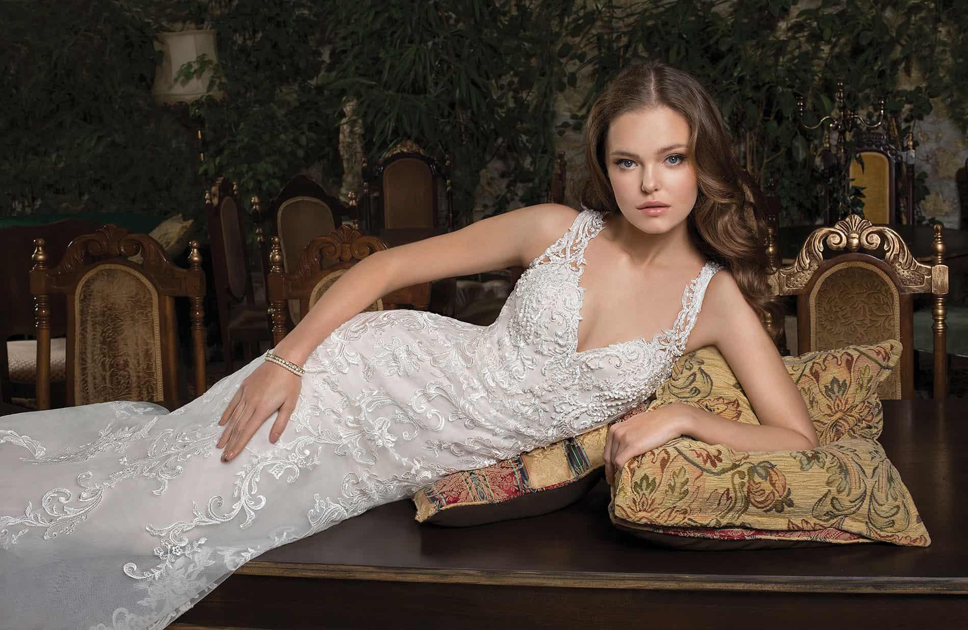 Cosmobella 7954   Vintage Brautkleid   Hochzeitskleid Meerjungfrau   Brautmode Köln Anna Moda