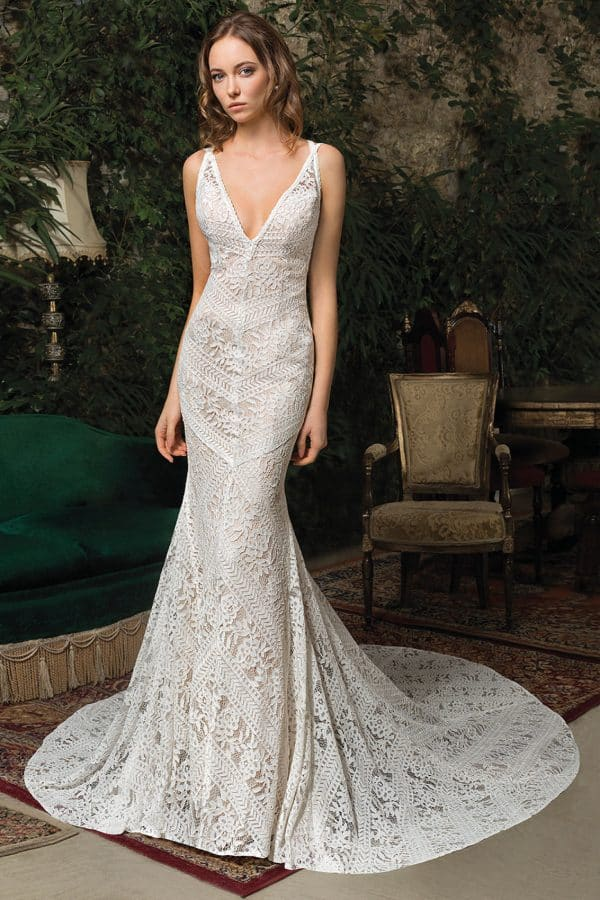Cosmobella 7967   Vintage Brautkleid   Hochzeitskleid Meerjungfrau   Brautmode Köln Anna Moda
