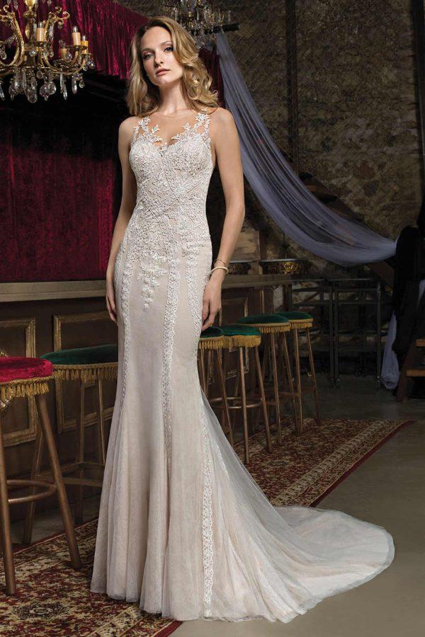 Cosmobella 7976 | Vintage Brautkleid | Hochzeitskleid Fit and Flair | Brautmode Köln Anna Moda