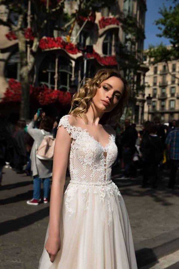 Pollardi Tina | Vintage Boho Chic Brautkleid | Hochzeitskleid A-Linie | Brautmode Köln Anna Moda