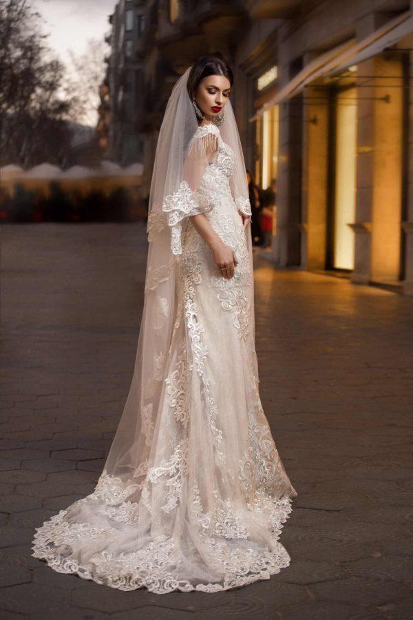 Pollardi 3149 | Vintage Brautkleid | Hochzeitskleid Meerjungfrau | Brautmode Köln Anna Moda