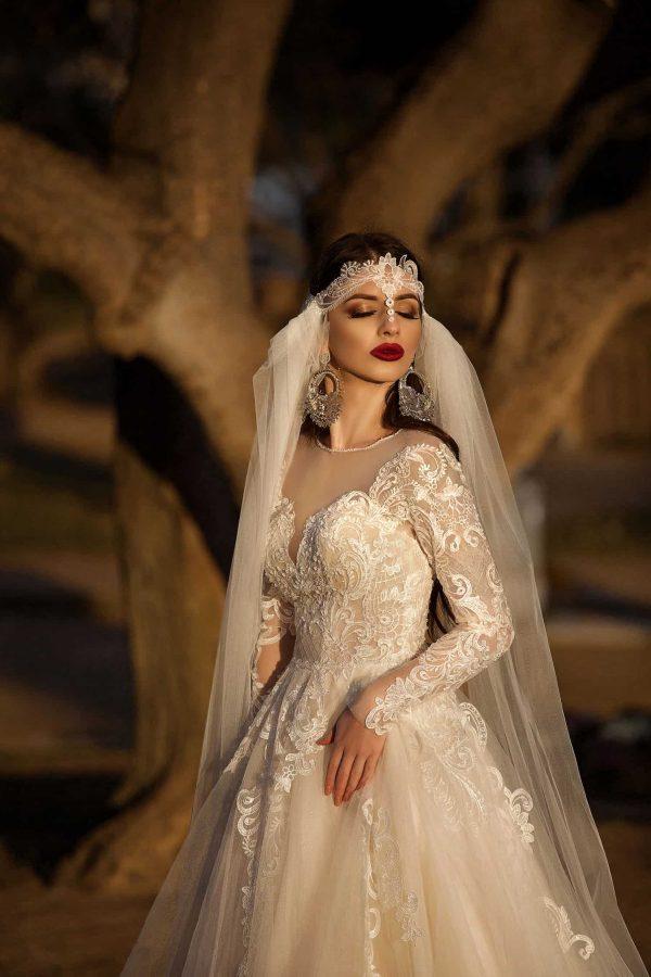 Pollardi 3153 | Prinzessinnen Brautkleid | Hochzeitskleid A-Linie | Brautmode Köln Anna Moda