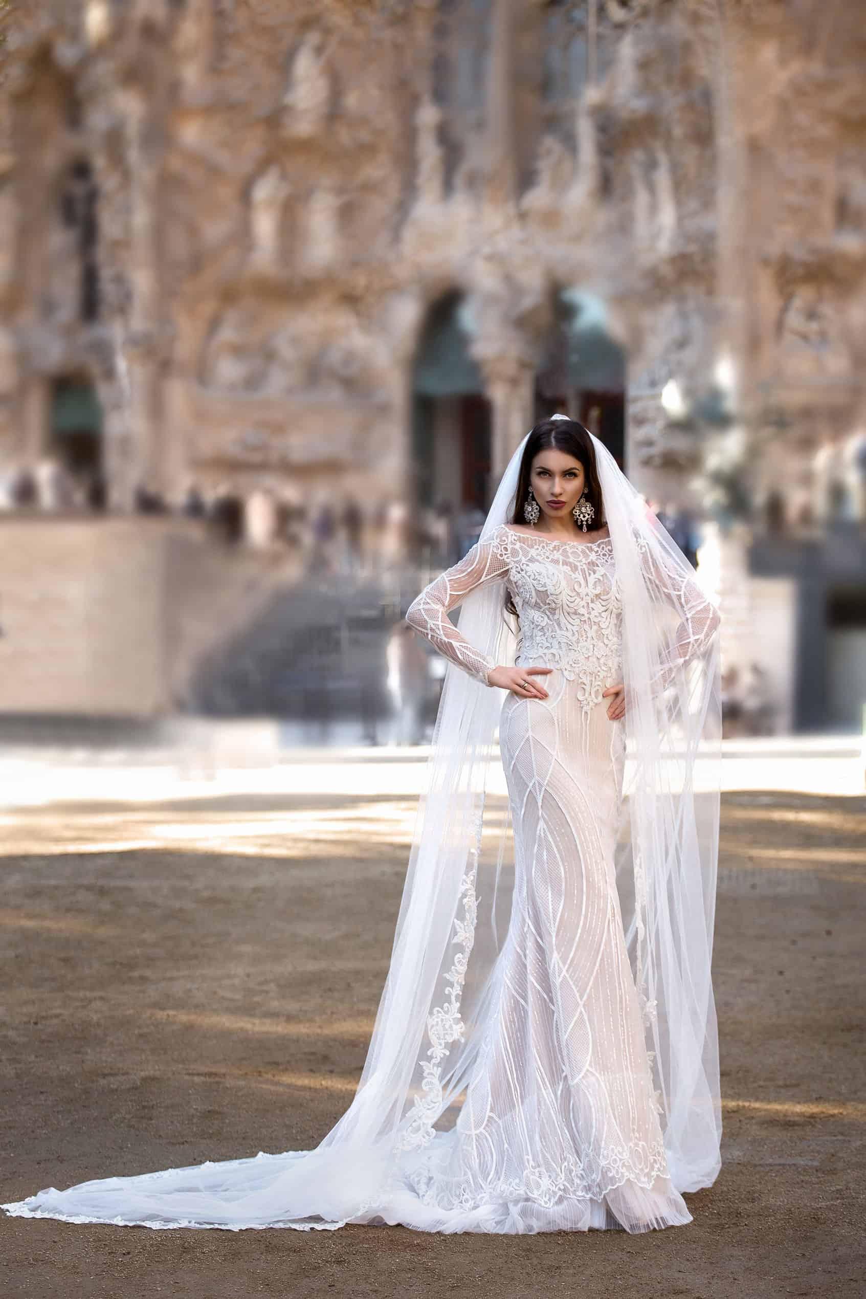 Pollardi 3155 | Vintage Brautkleid | Hochzeitskleid Meerjungfrau | Brautmode Köln Anna Moda