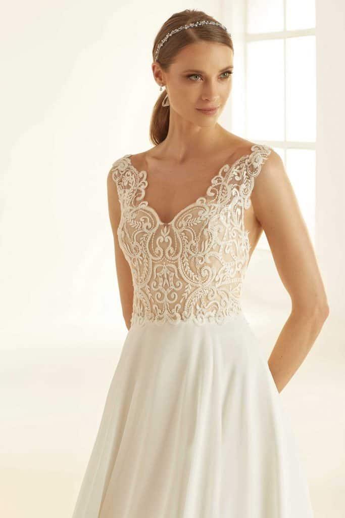 Brautmode Bianco Evento |Brautkleid Pandora Nude