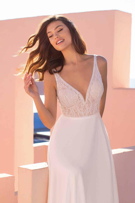 schlichte brautkleider standesamt - eleganz bei anna moda